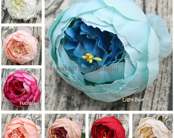 Silk Peony Flowers Bulk Artificial Silk Peonies 100 Flower Heads For Wedding Supplies Table Centerpieces Hairband Flowers Cake Toppers BXMD
