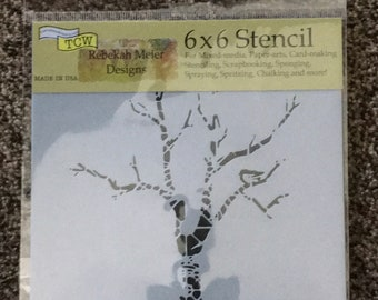 SHADOW TREE  TCW530s Laser Cut  TCW  6 x 6 Stencil