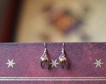 Harry Potter Golden Snitch Earrings