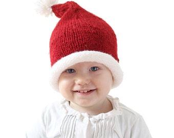 Baby Santa Hat KNITTING PATTERN / Santa Hats for Kids / Santa Hat Newborn / Santa Hat Pattern / My First Christmas / Santa Hat for Infant