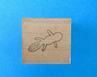 Beaver Vintage Rubber Stamp 1990 Small Not Stamped
