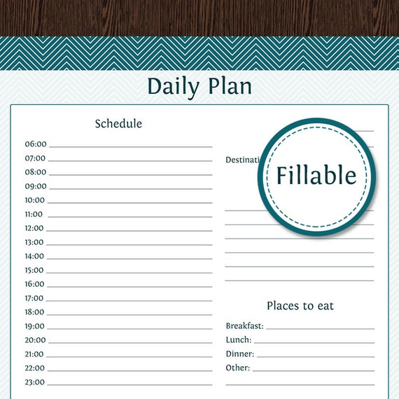 travel planner  daily planner fillable instant download
