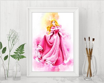 Sleeping Beauty Print Aurora Printables Sleeping Beauty Print Disney Princess Instant Download Disney Birthday Printable Art n575
