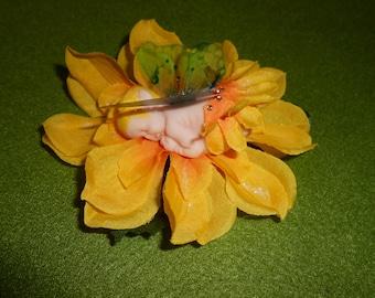Flower Fairy Baby / polymer clay