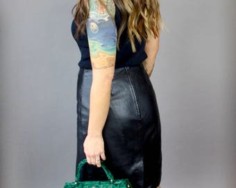 Buttery Soft Vintage Leather Skirt