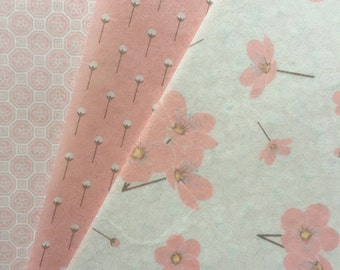 Pink Cherry Blossoms Edible Wafer Paper