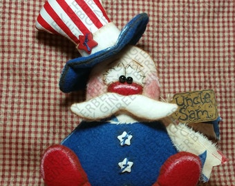 Yankee Doodle Dandy Sam Pattern #216 - Primitive Doll Pattern - Patriotic - 4th of July