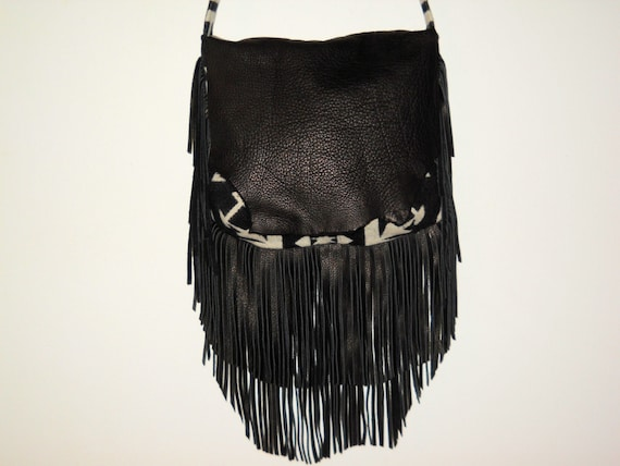 Made to Order - Fringe Lovers Possibles Purse / Shoulder Bag Large Handcrafted Using Fabric from Pendleton Woolen Mill