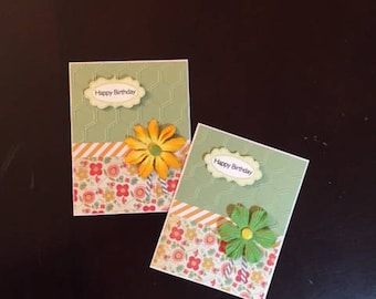 birthday homemade card; homemade birthday cards; birthday cards; card with flowers; homemade cards; homemade greeting cards; blank cards