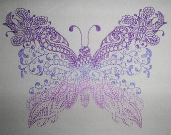 Butterfly zendoodle