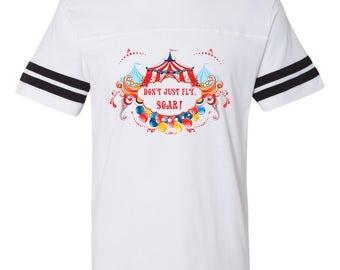 Dumbo football tee | Dont Just Fly Soar tee | Disney shirt | Disney football tee
