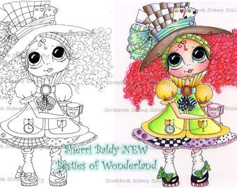 INSTANT DOWNLOAD Digital Digi Stamps Big Eyed IMG649 Besties Big Head Dolls Digi By Sherri Baldy