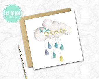 Cloud Baby Shower Card