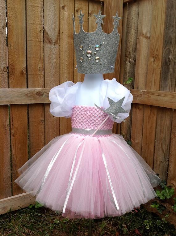 Diy glinda costume diy glinda dress 25 sc 1 st the not so items similar to glinda the good witch tutu dress with matching crown u0026 wand size medium on etsy maxwellsz