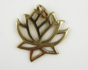 Natural Bronze Lotus Flower Charm