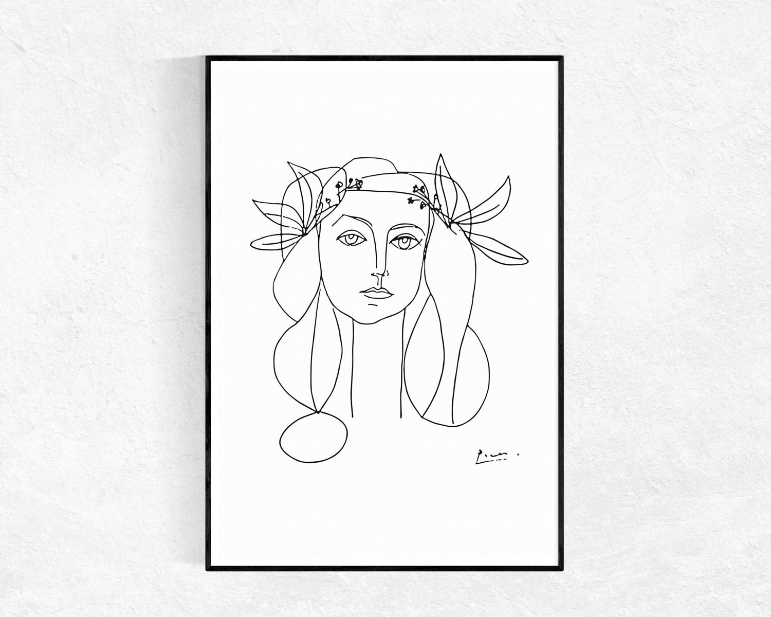 Line Drawing By Picasso : Picasso printable art sketch poster head of a