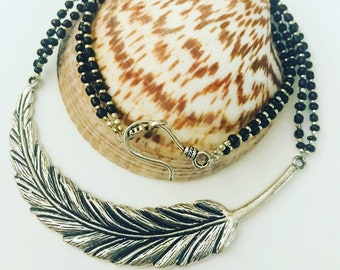 Antique Feather Necklace.