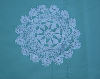 Vintage Crocheted White Doily - Vintage style for your Home.