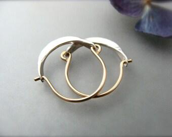 mini minimalist ... 14k gold filled hoops