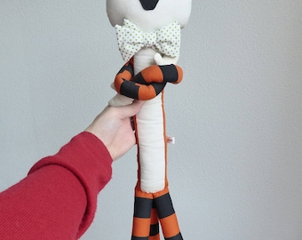 Doll Tiger Plush with Bowtie