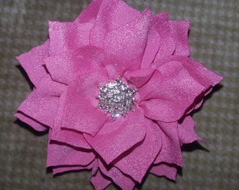 Pink flower with a crystal center