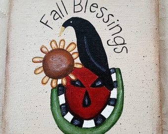 Fall Blessings Watermelon, Crow & Sunflower Block of the Month (Block Only)