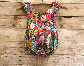 Baby clothes romper Boho baby clothes girls first birthday outfit overalls little girl clothes photo shoot outfit girl boho kids birthday