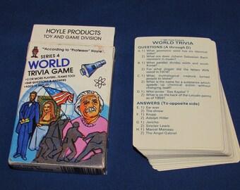 WORLD TRIVIA GAME Series 4 Hoyle 1984 Trivia Cards