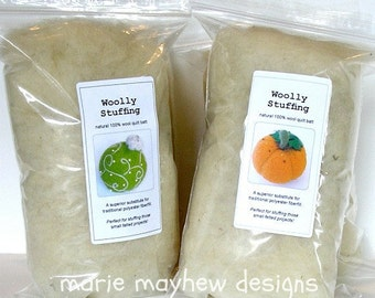 STUFFING: Two Packs of Stuffing. Natural Woolly Stuffing. Wool Stuffing Great for Felted Projects.