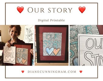 Valentine's Day Printable: Our Story