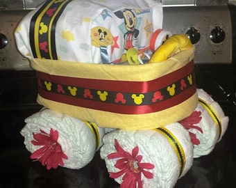 Diaper Cake Stroller Made To Order Large Baby Shower Centerpiece Boys, Girls, Neutral Designs Available