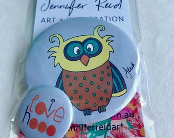 I Love Hooo Owl Button Pack