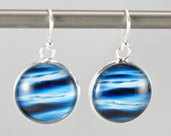 Tranquility - Earrings -  Sterling Silver Ear Wires - Photography - Handmade - Unique Gift - Matching Bracelet Available -  Wearable Art!