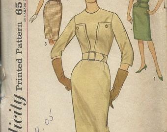 1960s Simplicity  4695  Misses One Piece Dress    Size 14   Vintage