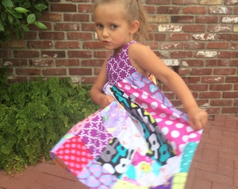 Patchwork Festival Dress - Girls Size 2-4