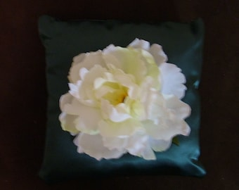 ring bearer pillow flower on you choice color wedding pillow
