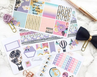 "Erin Condren Horizontal ""Fly Away With Me"" Weekly Kit Planner Stickers"