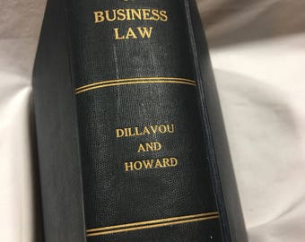 Principles of Business Law by Dillavou and Howard, vintage law book, vintage hardcover book