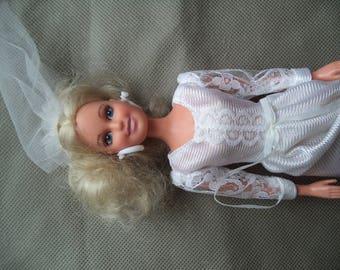 Totsy bride doll , Wedding bride doll , Doll with wedding dress , 1992 Bride doll baby , Doll baby , Vintage doll baby