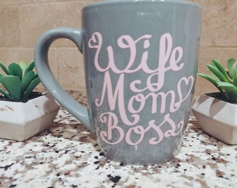 Vinyl Wife Mom Boss Coffee Mug