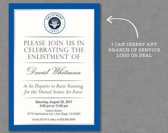 Military Invitation/ Air Force / Navy / Bootcamp / Basic Training / Going Away / Deployment / Retirement / DIGITAL ONLY