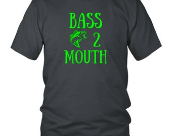 Bass Fishing Shirts a Funny Fishing Gifts For Men With A Largemouth Bass. Fishing Gifts for Boyfriend or Fishermen With A Sense Of Humor