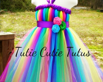 Tutu Dress Green, Pink, Blue, Yellow, and Purple.