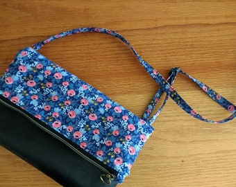 crossbody purse, foldover clutch, faux leather purse, boho crossbody, rifle paper co