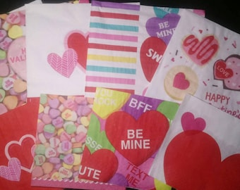 Valentine's Day Napkins for Decoupage Crafts