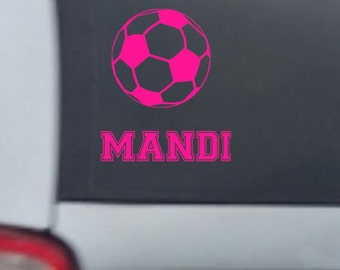 Personalized Soccer Car Decal, vinyl decal