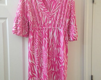 Lilly Pulitzer Zebra Print Pink and White Dress