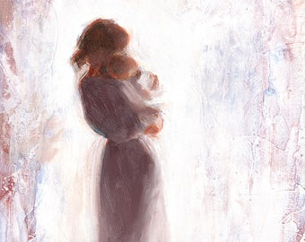 Mother and Child Fine Art Print of Original Oil Painting