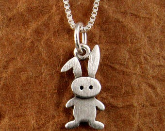 Tiny bunny necklace / pendant