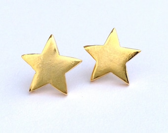 Gold star post earrings